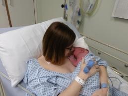 Lyla's first mummy cuddle